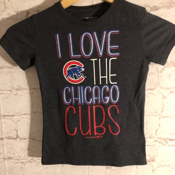 new styles 89d30 e0a02 YOUTH BOY OR GIRL MLB CHICAGO CUBS FAN T-SHIRT